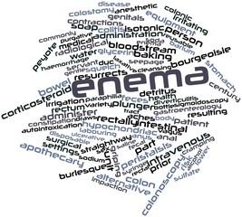 Word cloud for Enema