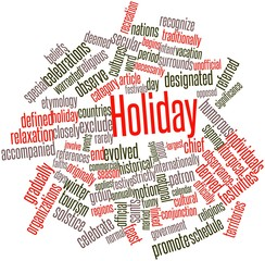 Word cloud for Holiday