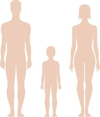 Vector illustration of human's figure