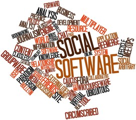 Word cloud for Social software