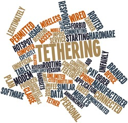 Word cloud for Tethering