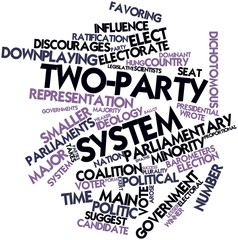 Word cloud for Two-party system