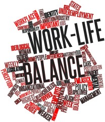 Word cloud for Work-life balance