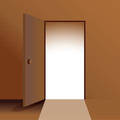 open door - illustration