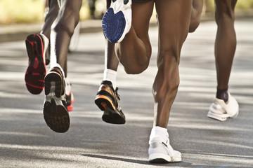 black marathon runners