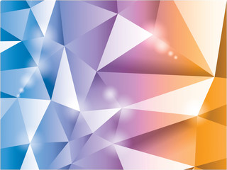 3d polygon triangle abstract background - illustration