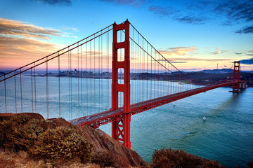 Fotorollo San Francisco horizontal view of Golden Gate Bridge