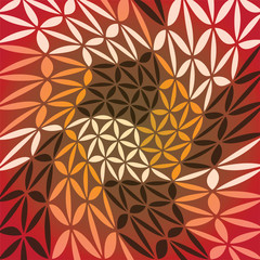 Abstract background created from color leafs, illustration