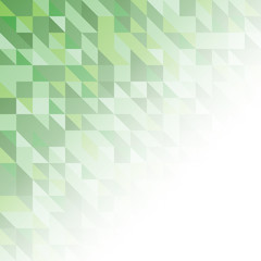 green bright abstract triangles background