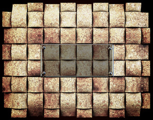 Natural cork grid abstract background with ''wine cork''