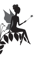 Silhouette of magic fairy