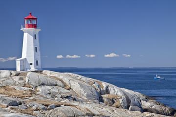 Fotorolgordijn Canada Peggy's Cove lighthouse, Nova Scotia, Canada.