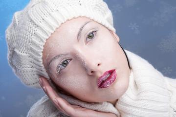 snowy beautiful girl