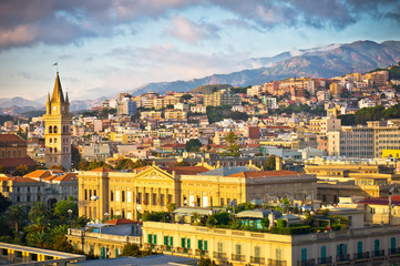 Beautiful view of Messina old city, Sicily, Italy Fototapete