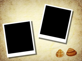 blank photo templates with old paper background