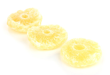 tasty dry pineapple isolated on white