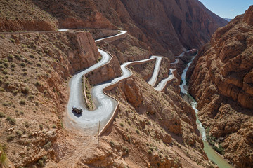 Keuken foto achterwand Marokko Mountain road