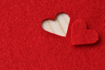Background in red for Valentine's Day