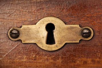 Vintage copper keyhole decorative element