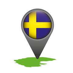 Schweden Markierung Flagge Icon Button