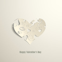 Happy Valentine's Day card eps10 vector illustration