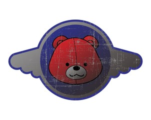button web art bear