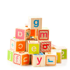 Wooden alphabet blocks. Baby Blocks