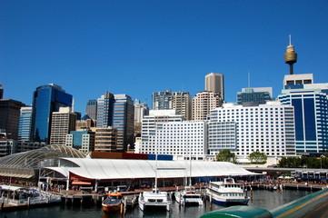 View on Darling Harbor, Sydney Tower Eye, CBD. Sydney, Australia