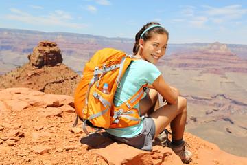Grand Canyon hiker portrait. Papier Peint