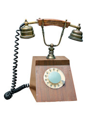 old wired telephone