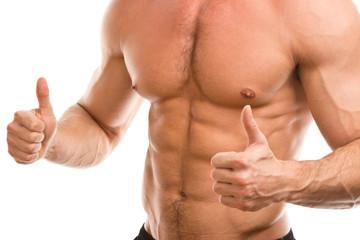 muscular male ok