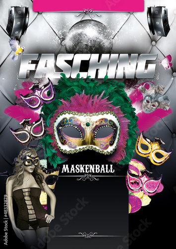 Fasching Flyer Stock Photo And Royalty Free Images On Fotolia Com