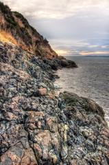 Fototapete - Rocky Shore Along Pacific Coast