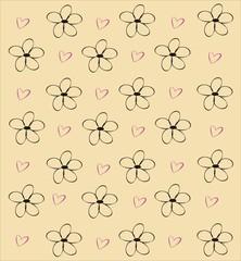 цветочный фон бежевый