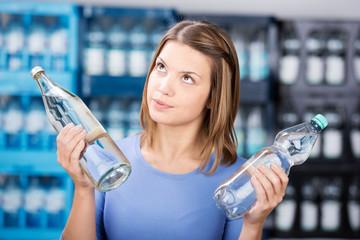 glasflasche oder plastikflasche?
