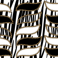 Abstract seamless background with zebra skin pattern