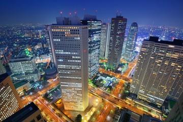 Staande foto Tokyo Shinjuku Tokyo Skyline