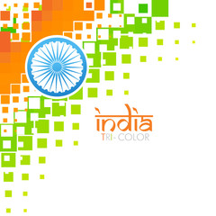artistic indian flag