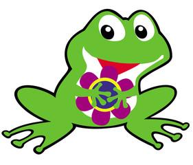 simple childish frog