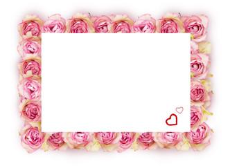 Floraler Rahmen aus Rosen