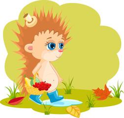 Photo sur Plexiglas Monde magique Cartoon hedgehog