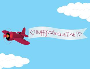 Valentine´s Day Plane