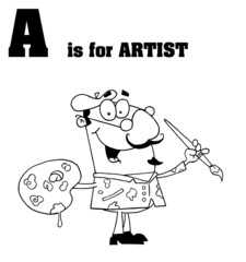 A Is For Artist Text