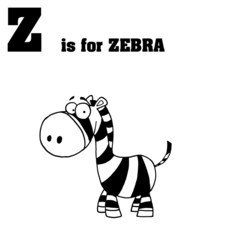 Z Is For Zebra Text