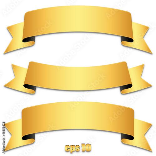 """Set of gold ribbons, tapes - Goldene Banderole Sammlung ..."