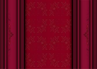 Elegant vintage with damask wallpaper (eps10)