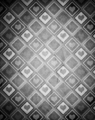 Foto op Canvas Geometrisch Valentines Day (Vintage Pattern Page)