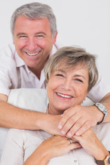 Portrait of smiling old couple