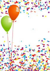 Konfetti und Luftballons