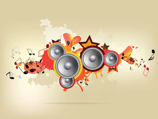 Abstract colored musical background